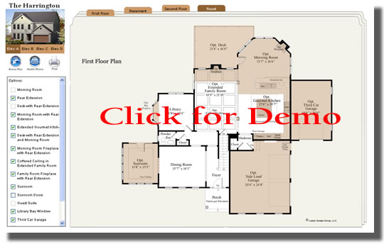Rendered Interactive Floor Plans